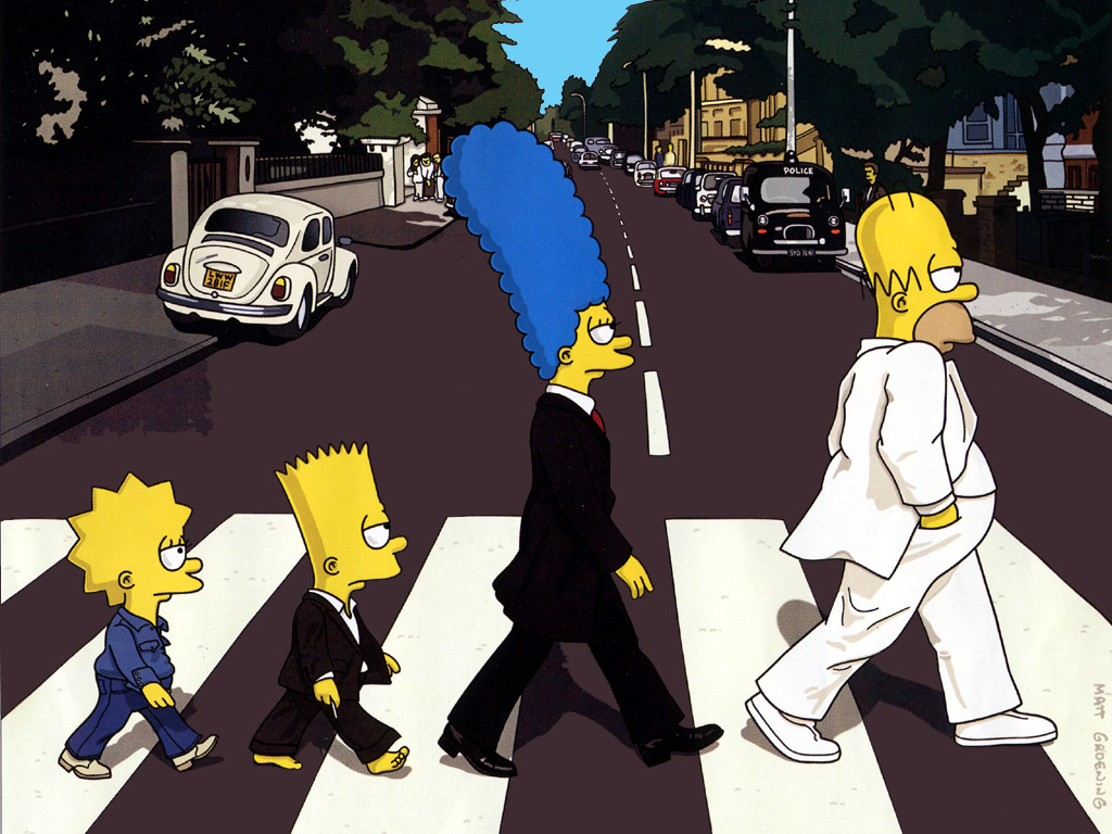 The Simpsons' Abbey Road parody