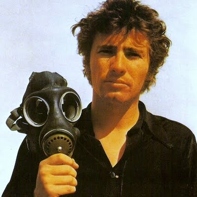 Tim Buckley with the gas mask
